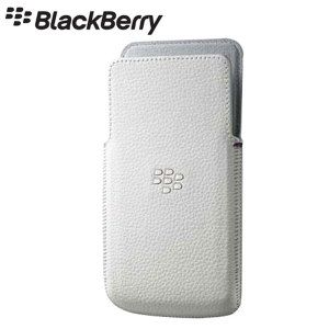 Blackberry Z10 Leather Case - White