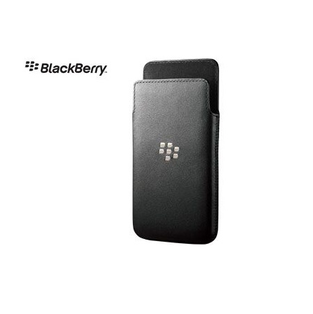 Blackberry Z10 Leather Case - Black