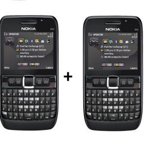 Nokia E63 Mobile Combo Pack of 2 Refurbished Qwerty Keypad Phone