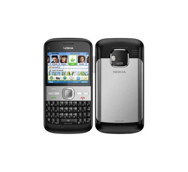 Nokia E5 QWERTY Phone Refurbished - Black