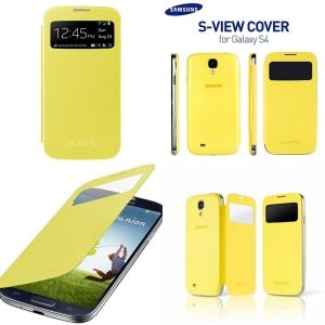 Samsung Galaxy S4 Sview Flip Cover - i545 - Yellow