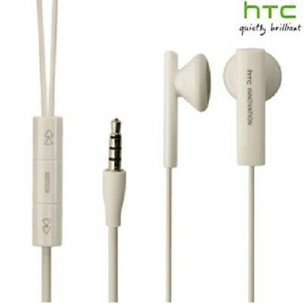 Earphone For HTC Innovation with 3.5mm Jack & mic – WHITE