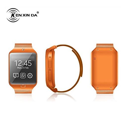 Kenxinda W3 Smartwatch - Orange – With SIM Calling – Full Touch Screen & Camera