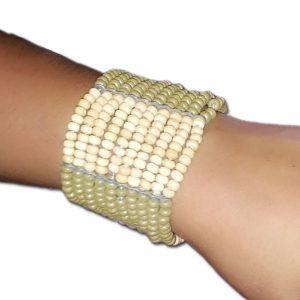 Bracelets For Girls - Wooden Moti Bracelets - Girl Accessories - Green