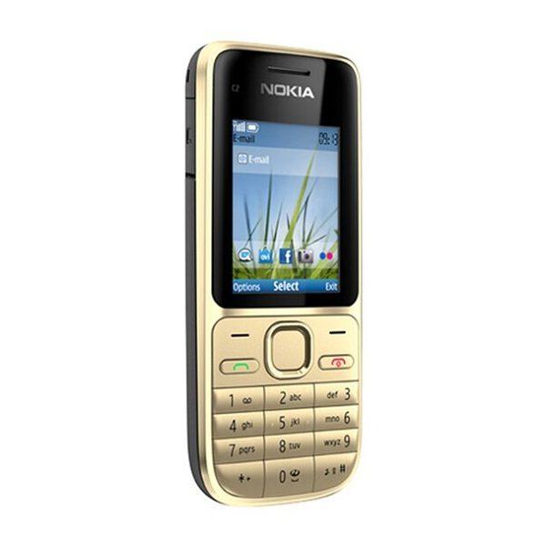 Nokia C2-01 Gold Keypad Phone Refurbished