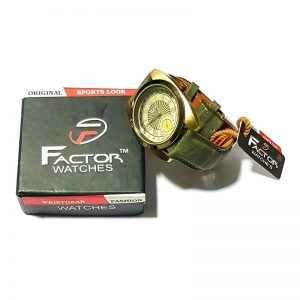 Factor Stylish Sporty Look Analog Watch - Men - Green