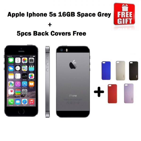Combo Offer   Apple iPhone 5S 32GB (Space Grey) Refurbished + 5pcs Of Back Covers