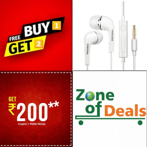 Buy 1 Get 2 FREE - Samsung Earphones With 3.5mm Jack & Mic