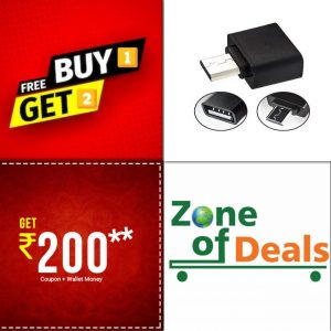 Buy 1 Get 2 Free - ZODE®Micro USB OTG Connector
