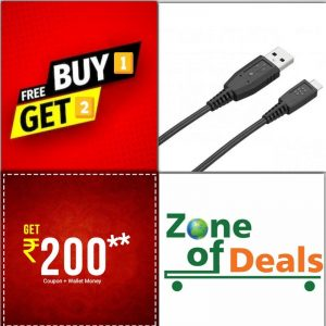 Buy 1 Get 2 FREE - Blackberry Micro USB Data Cable