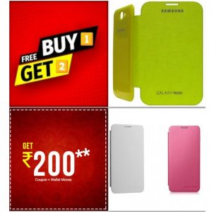 Buy 1 Get 2 FREE - Samsung Galaxy Note 1 N7000 Flip Cover Case on zoneofdeals.com