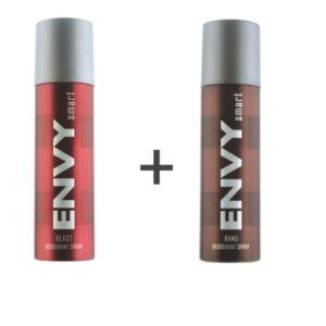 ENVY Smart Deodorant Spray For MEN ( BLAST + BANG ) ( Pack of 2 ) on zoneofdeals.com