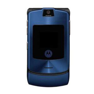 Motorola RAZR V3i Full Body Housing Blue | Motorola Flip Phone SPARE PARTS on zoneofdeals.com