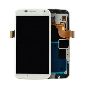 Motorola Moto X 1st Generation LCD Display and Touch Screen Replacement Digitizer Assembly with Frame | WHITE