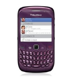 Blackberry 8520 Curve Purple Refurbished Qwerty Keypad Mobile