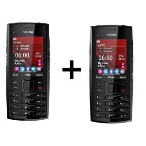 Combo Offer | Pack of 2 | Nokia X2-02 | Refurbished Keypad Mobile
