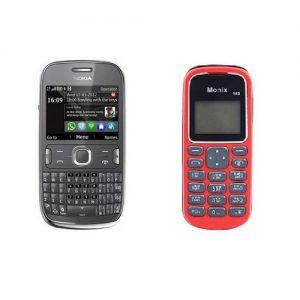 Nokia Asha 302 Qwerty Keypad Refurbished Phone + Monix Single Sim Mobile Free at Zoneofdeals.com