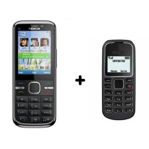 Nokia C5-00 Keypad Mobile Phone Refurbished + One Keypad Mobile Free