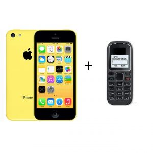 Buy Apple Iphone 5C   32GB   Refurbished + One Keypad Mobile FREE on Zoneofdeals.com