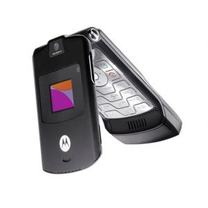 Motorola V3i Flip Phone Black Edition - Refurbished With Original Box and Accessories