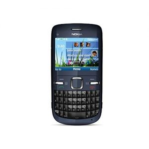 Nokia C3-00 Qwerty Keypad Phone (Blue) Refurbished