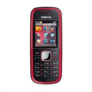 Nokia 5030 Red Keypad Phone Refurbished