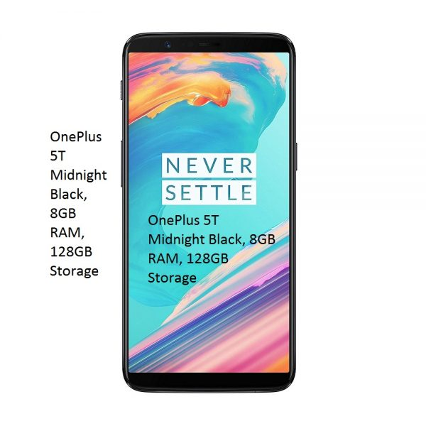 OnePlus 5T Midnight Black, 8GB RAM, 128GB Storage