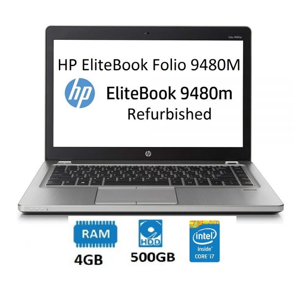 Refurbished HP EliteBook Folio 9480M 14in Intel Core i7 4th Gen 4GB 500GB