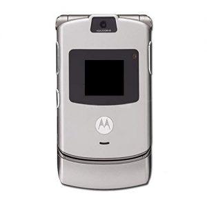 Full Body Housing for Motorola RAZR V3 Silver With Display Keypad Patta Camera