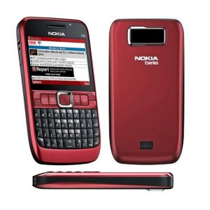 Nokia E63 | NON-CAMERA | QWERTY Keypad | Refurbished Phone- RED