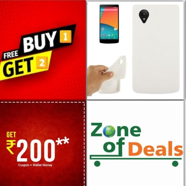 Buy 1 Get 2 FREE - Google Nexus 5 – TPU Back Case Cover – WHITE on zoneofdeals.com