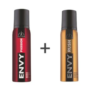 ENVY Smart Deodorant Spray For MEN ( PASSION + RUSH ) ( Pack of 2 ) on zoneofdeals.com