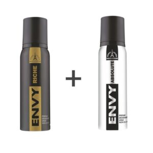 ENVY Smart Deodorant Spray For MEN ( RICHE + ABSOLUTE ) ( Pack of 2 ) on zoneofdeals.com