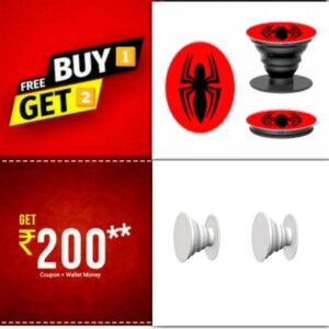Buy 1 Get 2 FREE - Designer Printed Mobile Holder on zoneofdeals.com