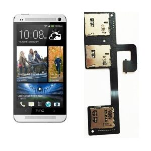 100% Original Replacement (Sim Card Reader Holder Slot) For HTC One M7 Dual Sim