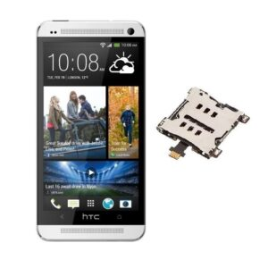 100% Original Replacement Sim connector For HTC One M7 Single Sim