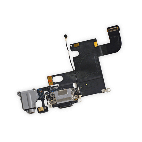 Apple iphone 6 Charging Connector Flex Black   Apple iPhone 6 Spare Parts on zoneofdeals.com